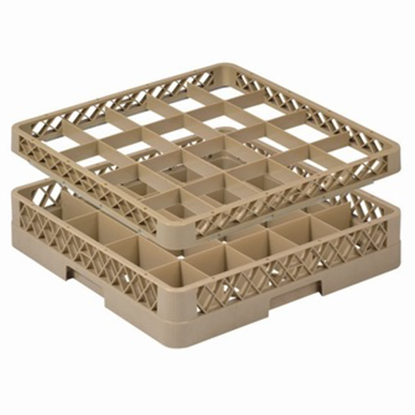 Picture of 20 Compartment Glass Rack L50xW50xH10 cm., Beige Color Compartment Size: 11.5x9 cm. (GC226-JB-20)