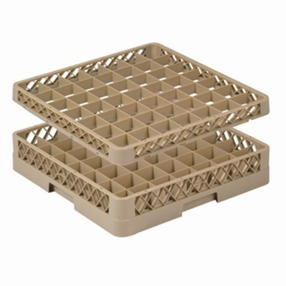 Picture of 49 Compartment Glass Rack L50xW50xH10 cm., Beige Color Compartment Size: 6.5x6.5 cm. (GC226-JB-49)