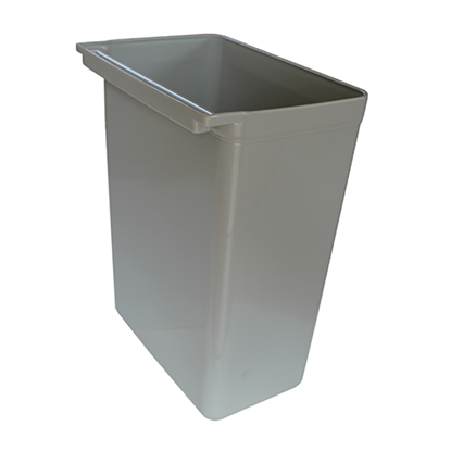 Picture of Service Cart Trash Container Grey Color L33.5xW23xH45.5 cm. (GC226-8690)